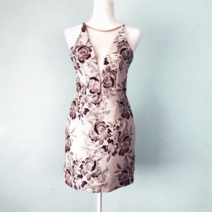 Dress The Population Kennedy Brocade Mini Dress